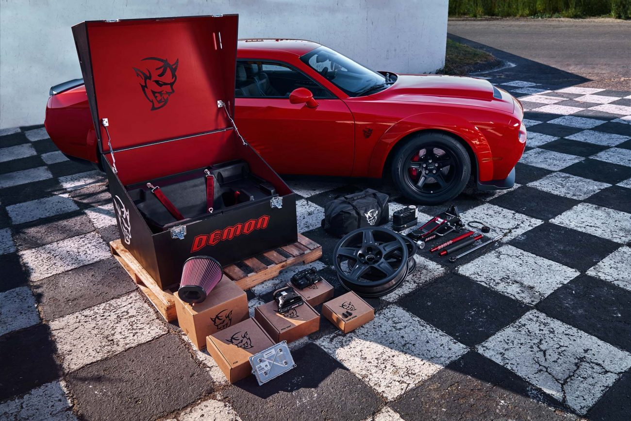 The custom-painted Demon Crate contains components that maximize
