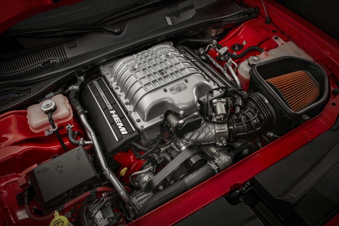 Under the hood of the 2018 Dodge Challenger SRT Demon is a 6.2-l