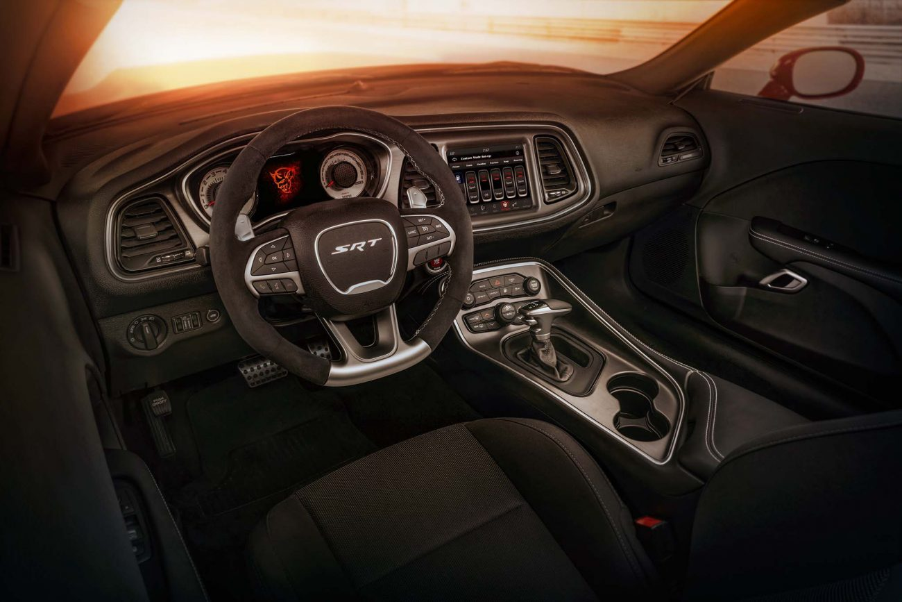 Standard drag-race inspired interior configuration of the 2018 D