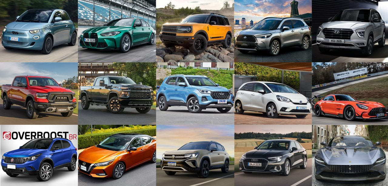 80 lançamentos de carros em 2021