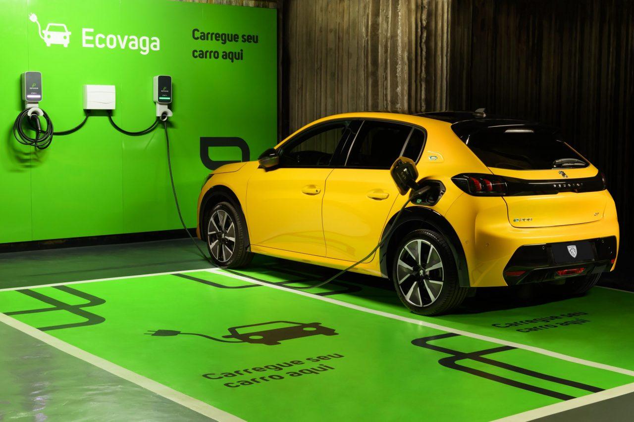 Ponto de recarga de carros elétricos